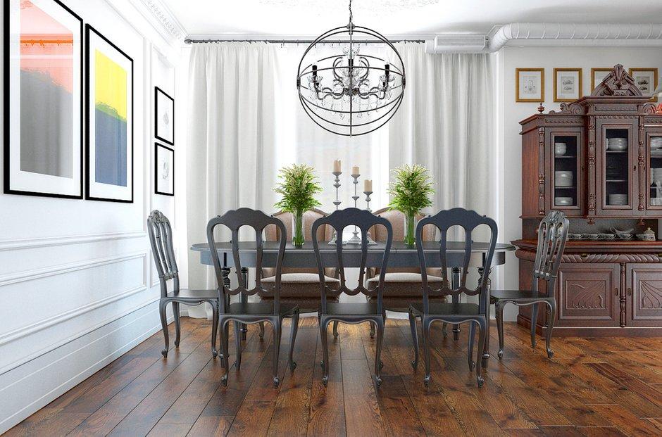 Фотография: Кухня и столовая в стиле Эклектика, Лофт, Квартира, Дома и квартиры – фото на INMYROOM