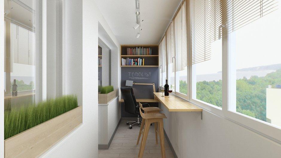 Фотография: Балкон в стиле Современный, Минимализм, Квартира, Проект недели – фото на INMYROOM