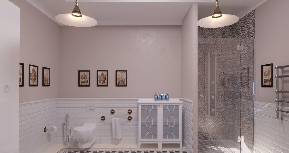 Фотография: Ванная в стиле Классический, Современный, Дом, Московская область, Апрелевка парк, Филипп Киценко – фото на InMyRoom.ru