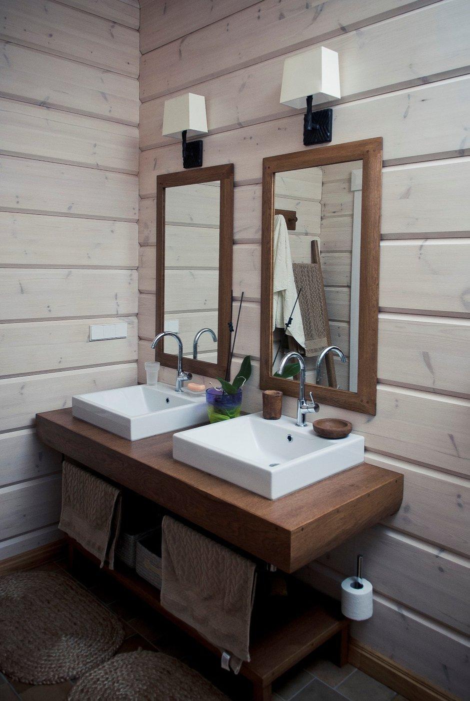 Фотография: Ванная в стиле , Дом, Праздник, Дома и квартиры, Проект недели, Дача, Новый Год, dom-iz-brusa – фото на INMYROOM