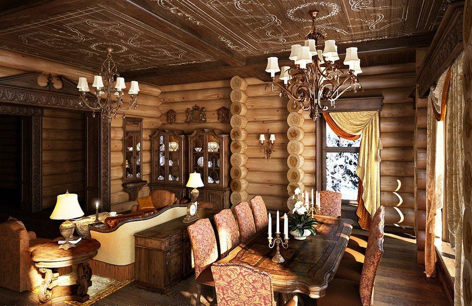 Фотография: Гостиная в стиле , Кухня и столовая, Интерьер комнат – фото на INMYROOM