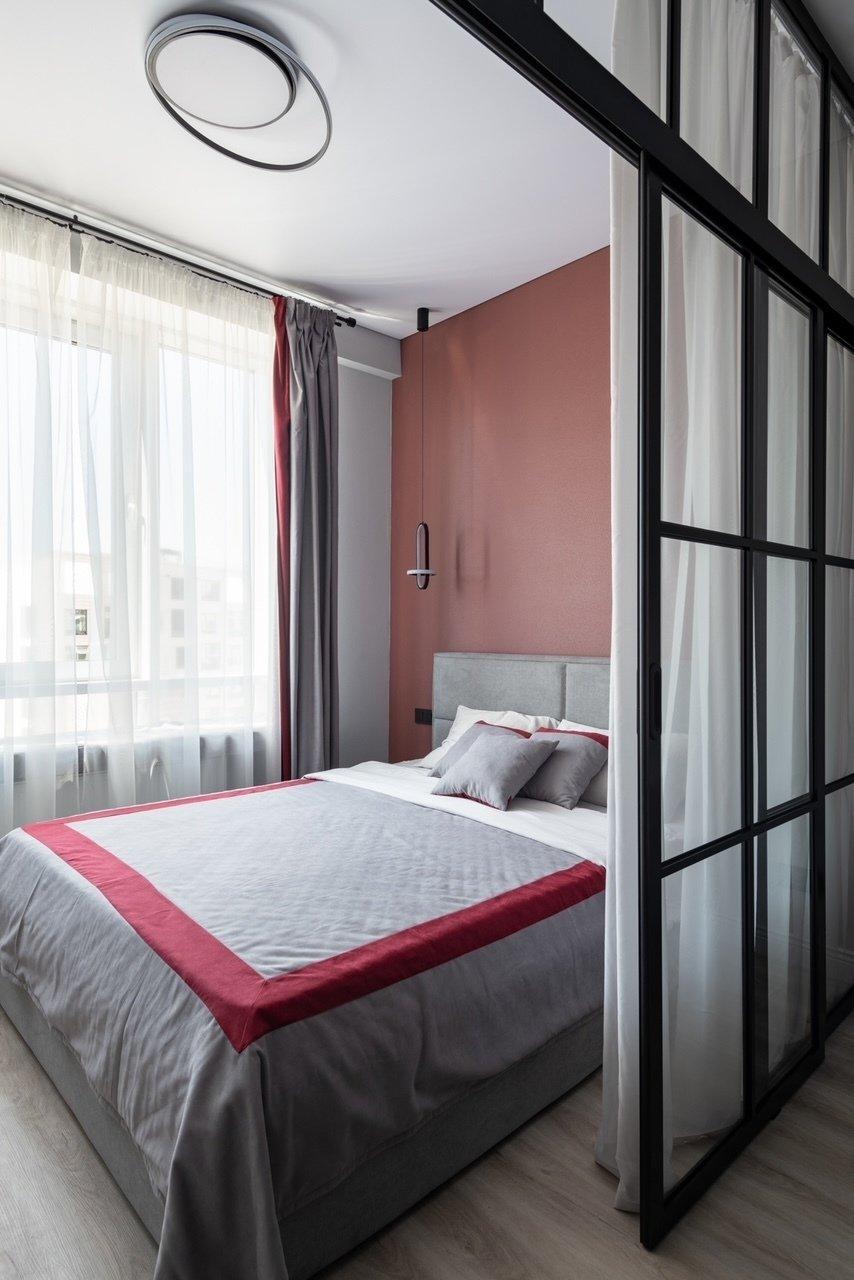 Фотография: Спальня в стиле Современный, Малогабаритная квартира, Квартира, Студия, Проект недели, Москва, Анастасия Лаппо – фото на INMYROOM
