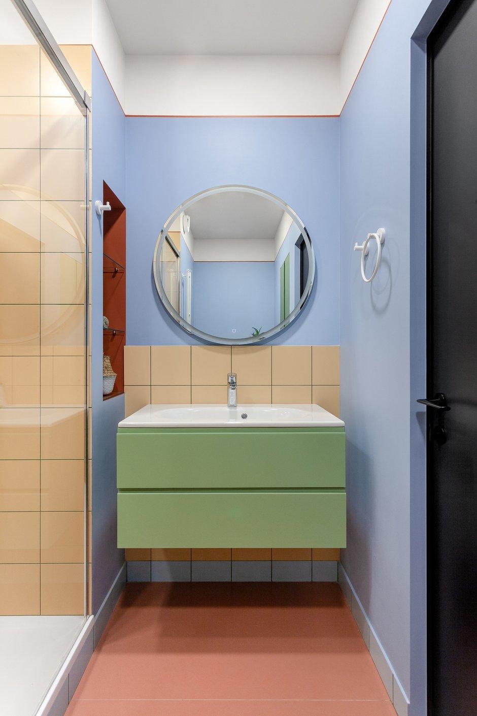 Фотография: Ванная в стиле Современный, Квартира, Проект недели, Москва, 2 комнаты, 40-60 метров, КубКвадрат – фото на INMYROOM