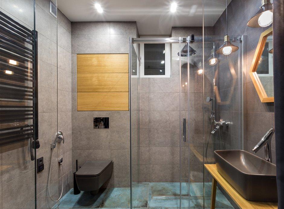 Фотография: Ванная в стиле Лофт, Квартира, Проект недели, Киев, новостройка, Монолитный дом, 2 комнаты, 60-90 метров – фото на INMYROOM