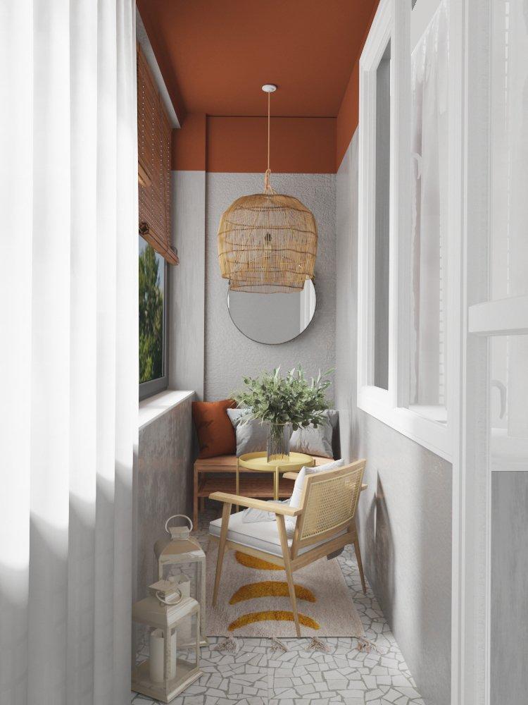 Фотография: Балкон в стиле Скандинавский, Современный, Квартира, Проект недели, Москва, 3 комнаты, 60-90 метров, DSGN HUB – фото на INMYROOM