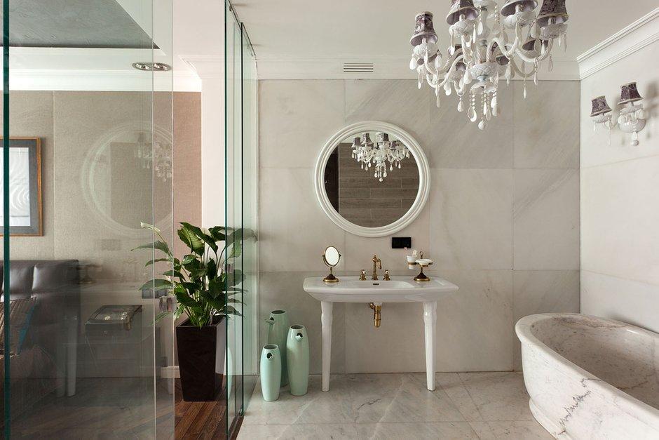 Фотография: Ванная в стиле Эклектика, Спальня, Классический, Интерьер комнат, Проект недели – фото на INMYROOM