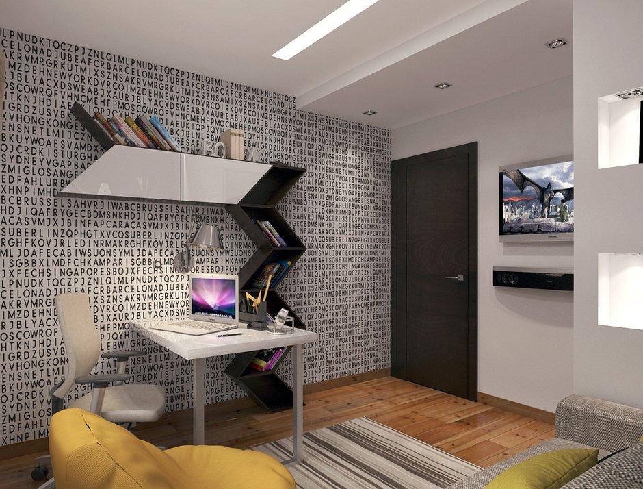 Фотография: Офис в стиле Эклектика, Квартира, Дома и квартиры, Перепланировка – фото на INMYROOM