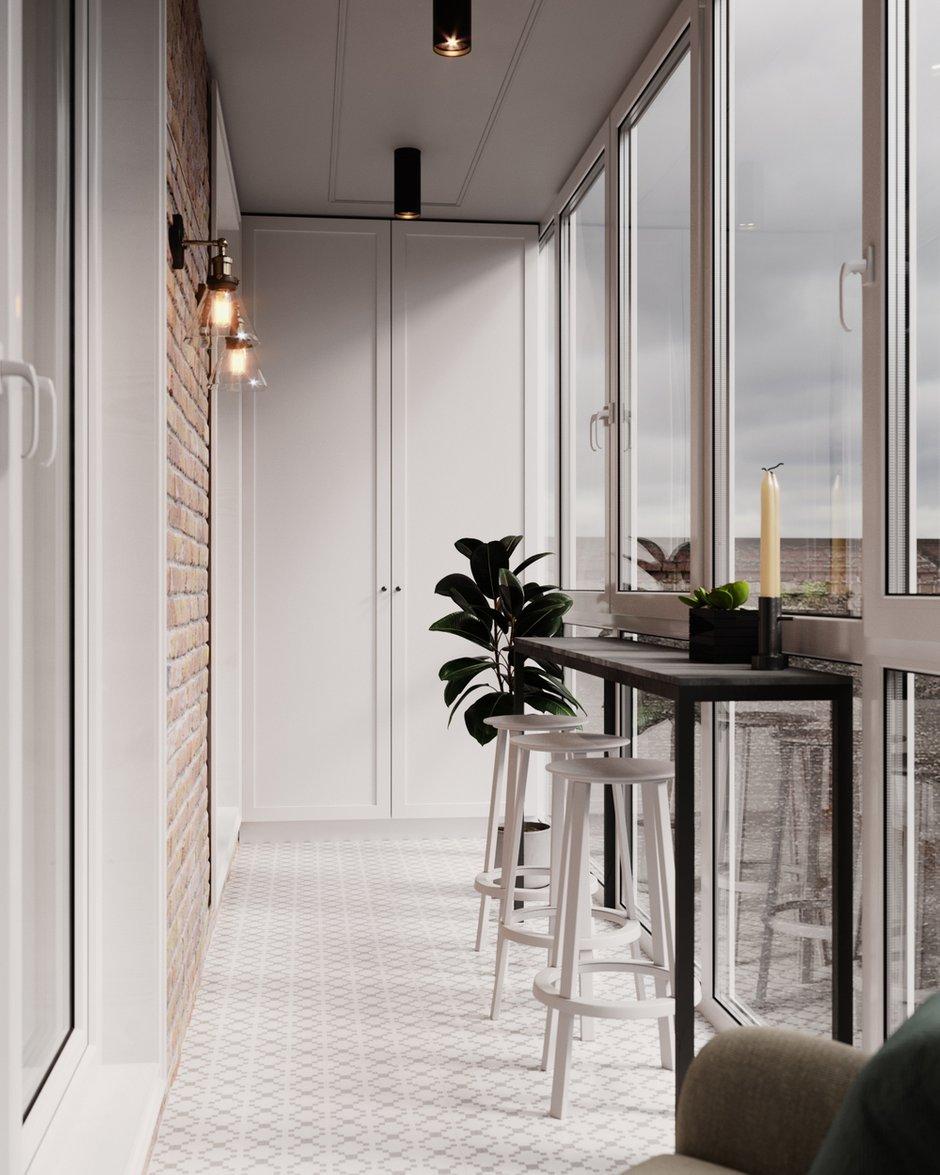 Фотография: Балкон в стиле Современный, Квартира, Студия, Проект недели, Минск, Монолитный дом, 40-60 метров, ЖК «Маяк», VAE design & architecture – фото на INMYROOM