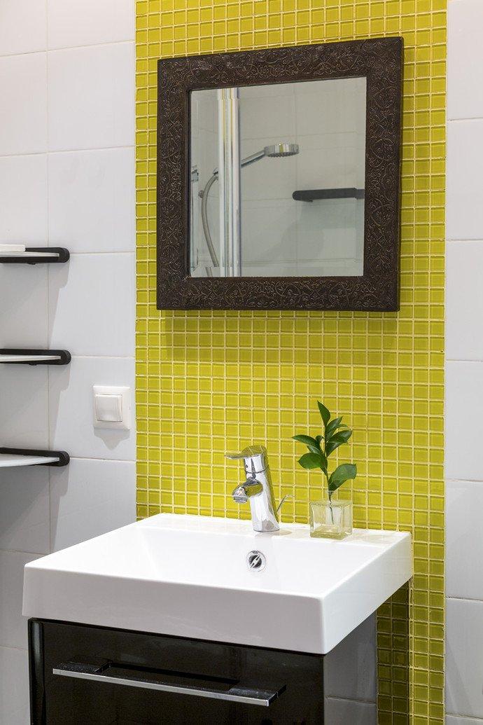 Фотография: Ванная в стиле Современный, Эклектика, Квартира, Дома и квартиры, IKEA, Проект недели, Перепланировка, Москва, Zara Home – фото на INMYROOM