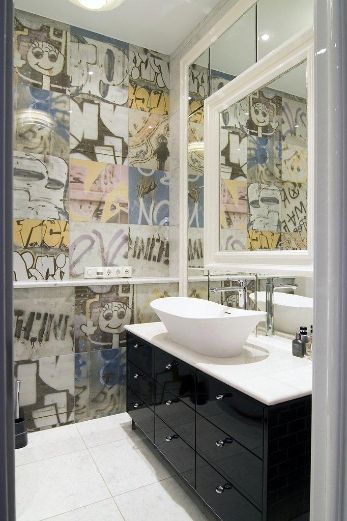Фотография: Ванная в стиле Современный, Лофт, Малогабаритная квартира, Квартира, Дома и квартиры, Проект недели – фото на INMYROOM