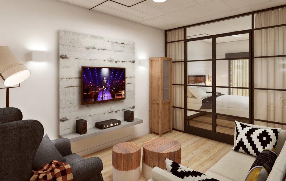 Фотография: Гостиная в стиле Лофт, Эклектика, Квартира, Проект недели, ИКЕА, Circle Line – фото на INMYROOM