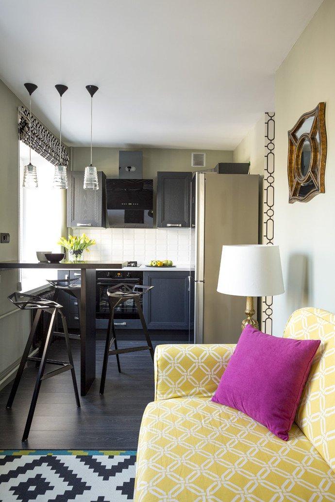 Фотография: Кухня и столовая в стиле Эклектика, Квартира, Дома и квартиры, IKEA, Проект недели, Перепланировка, Москва, Zara Home – фото на INMYROOM