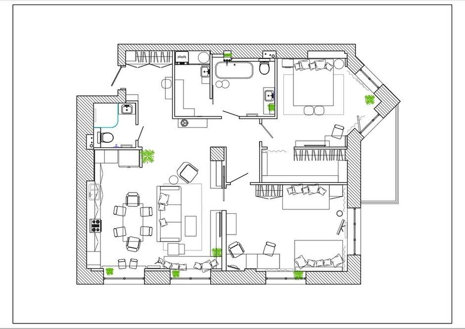 Фотография:  в стиле , Современный, Квартира, Проект недели, 3 комнаты, Более 90 метров, Владивосток, Елена Теплова – фото на INMYROOM