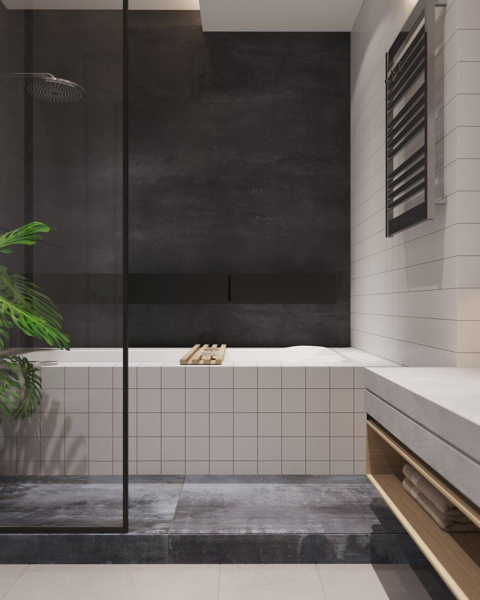 Фотография: Ванная в стиле Лофт, Современный, Квартира, Проект недели, Санкт-Петербург, 2 комнаты, 60-90 метров, Dinamika Architects – фото на INMYROOM