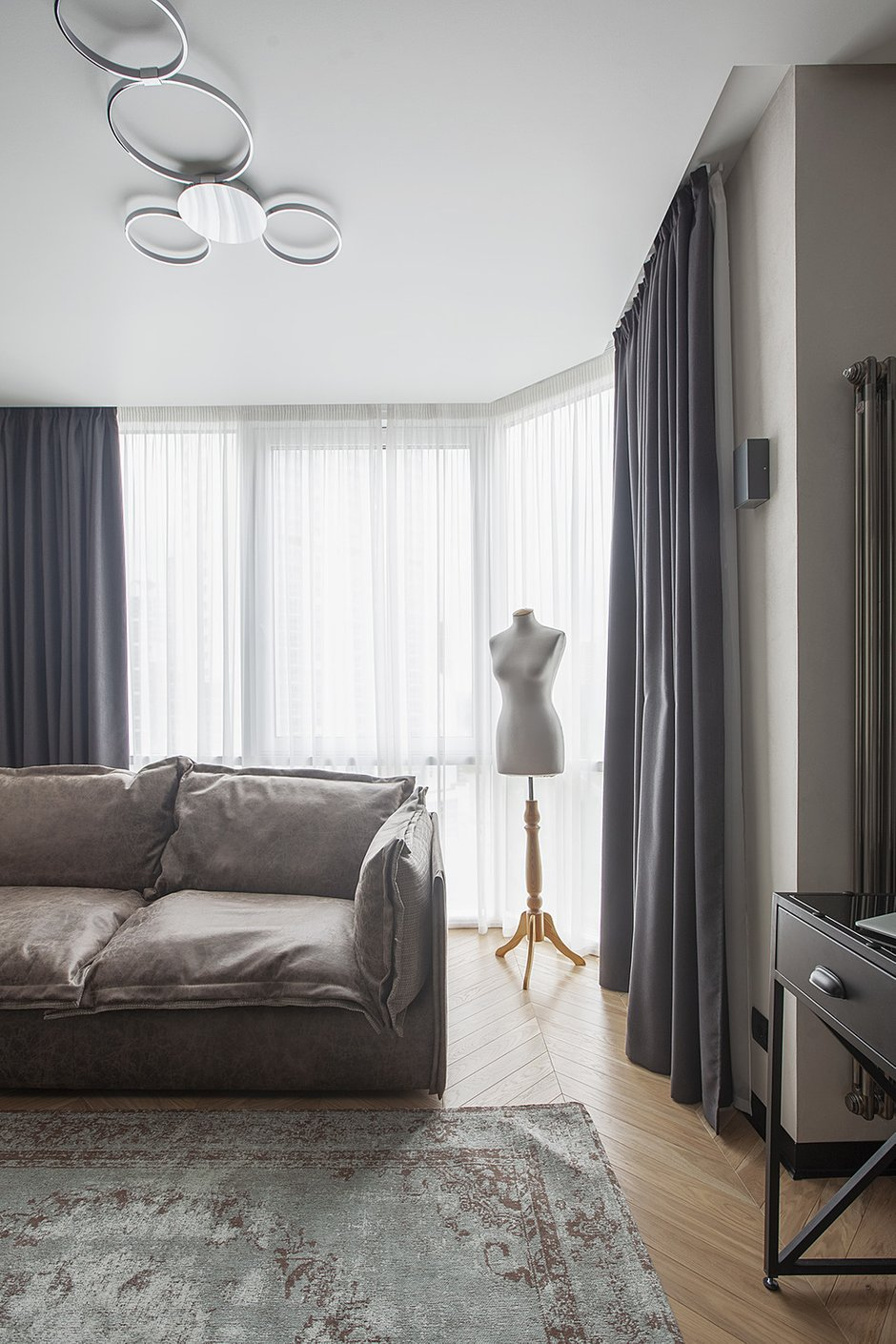 Фотография: Гостиная в стиле Современный, Лофт, Студия, Проект недели, Мария Полянская – фото на INMYROOM