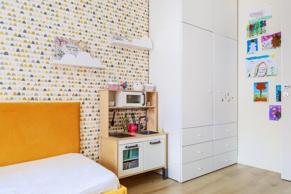 Фотография: Детская в стиле Современный, Квартира, Проект недели, Новая Москва, Samsung, 3 комнаты, 60-90 метров, the frame, интерьерный телевизор – фото на INMYROOM