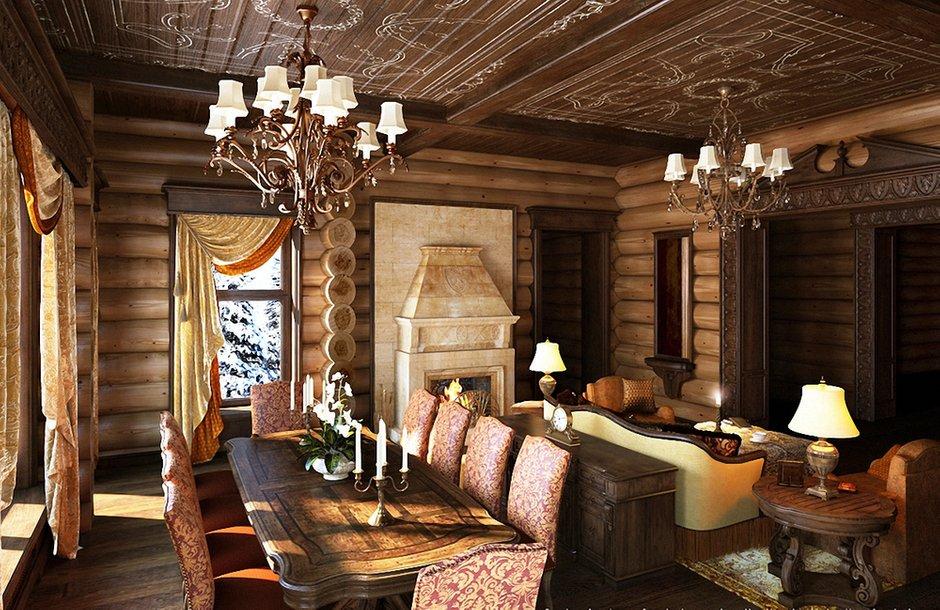 Фотография: Кухня и столовая в стиле , Гостиная, Интерьер комнат – фото на INMYROOM