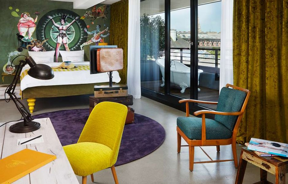 Фотография: Спальня в стиле Эклектика, Дома и квартиры, Городские места, Отель, Проект недели – фото на INMYROOM