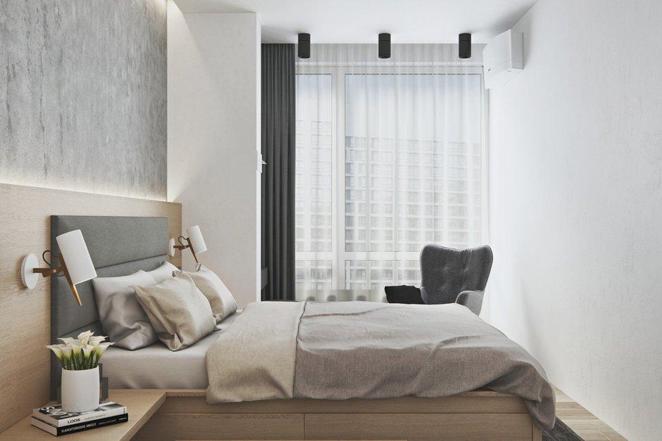 Фотография: Спальня в стиле Современный, Квартира, Проект недели, Москва, Geometrium, Монолитный дом, 3 комнаты, Более 90 метров, ЖК «Лайнер» – фото на INMYROOM