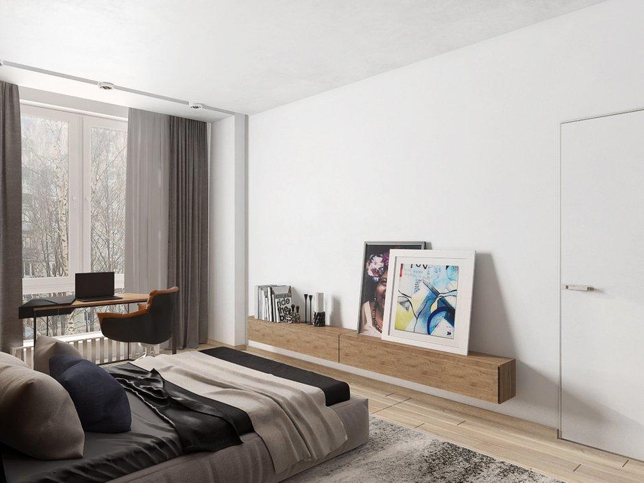Фотография: Спальня в стиле Современный, Квартира, Проект недели, Евгения Ермолаева, EEDS, 2 комнаты, 60-90 метров, Монолитно-кирпичный, ЖК Квартал 9/18 – фото на INMYROOM