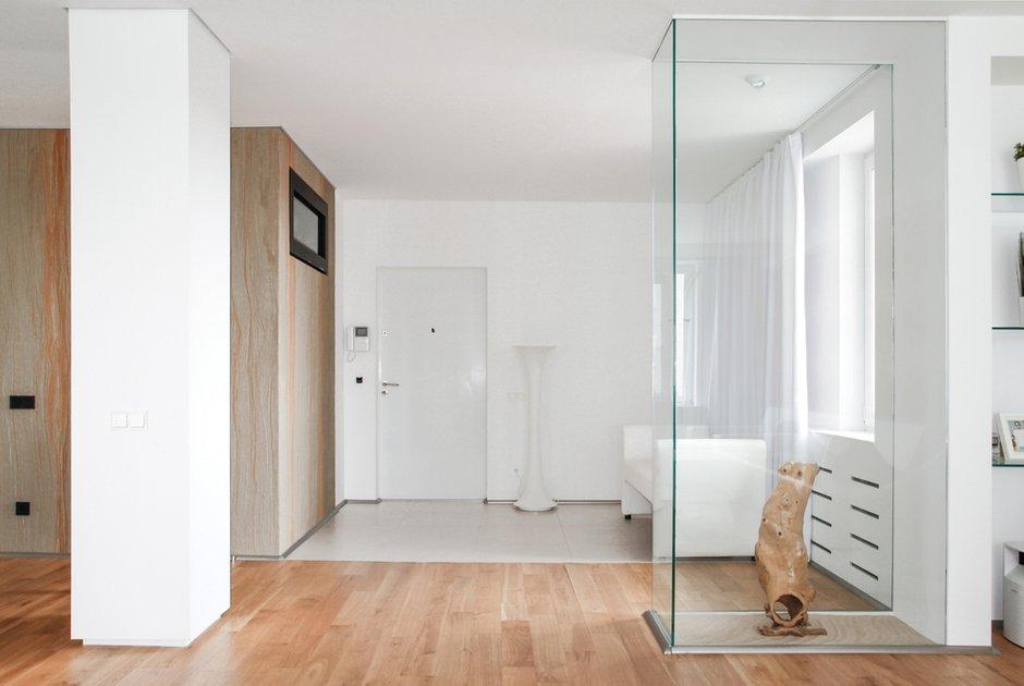 Фотография: Прихожая в стиле Лофт, Современный, Квартира, Цвет в интерьере, Дома и квартиры, Белый, Минимализм, Проект недели – фото на INMYROOM