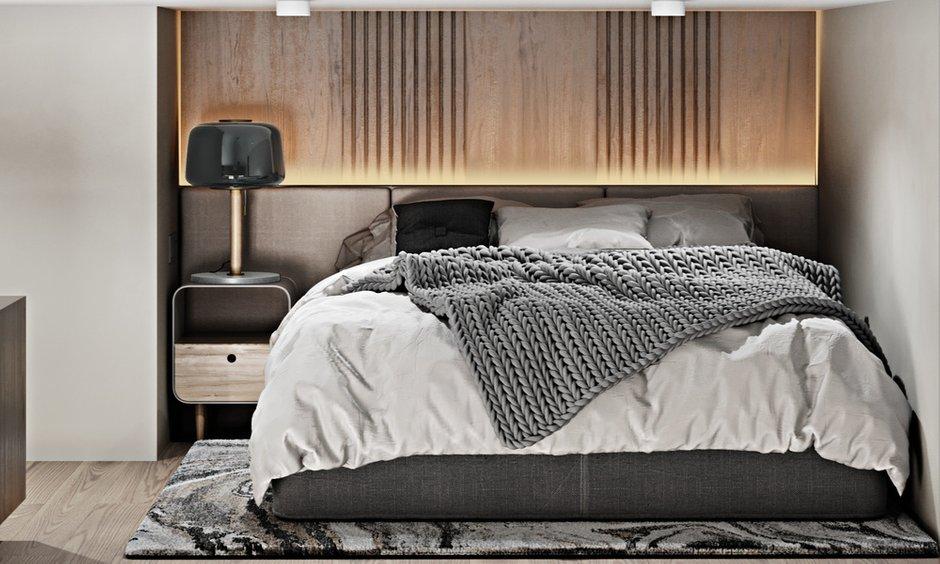 Фотография: Спальня в стиле Современный, Квартира, Студия, Проект недели, Москва, до 40 метров, 40-60 метров, Александра Гартке – фото на INMYROOM