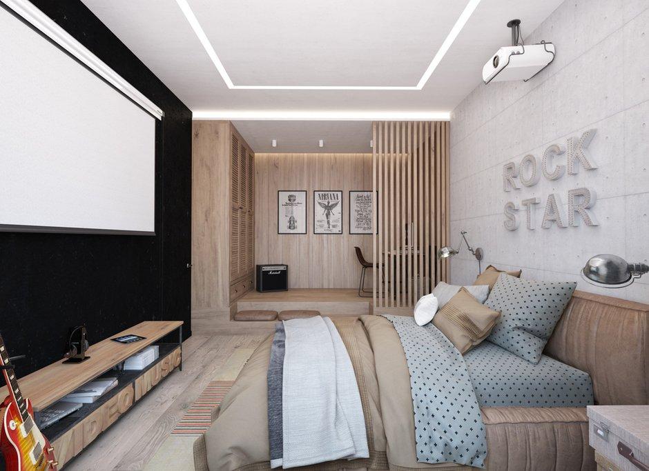 Фотография: Спальня в стиле Минимализм, Квартира, Проект недели, Эко, Московская область, Королев, Монолитный дом, 4 и больше, Более 90 метров, «Ригель и Балка» – фото на INMYROOM