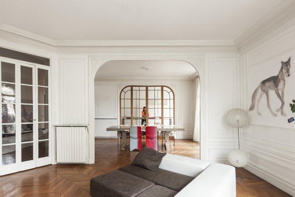 Фотография: Гостиная в стиле Современный, Кухня и столовая, Интерьер комнат – фото на INMYROOM