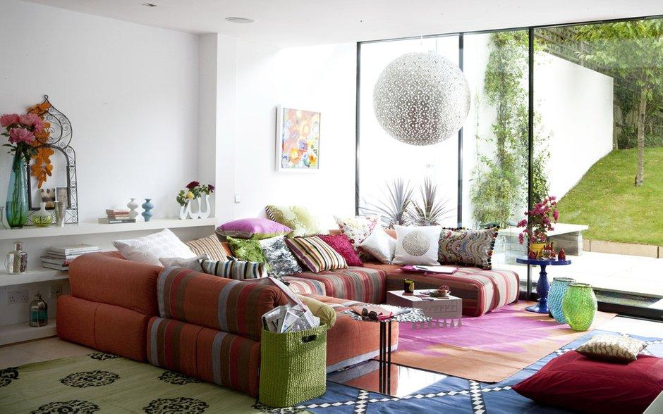 Фотография: Гостиная в стиле Современный, Декор интерьера, Квартира, Текстиль – фото на INMYROOM