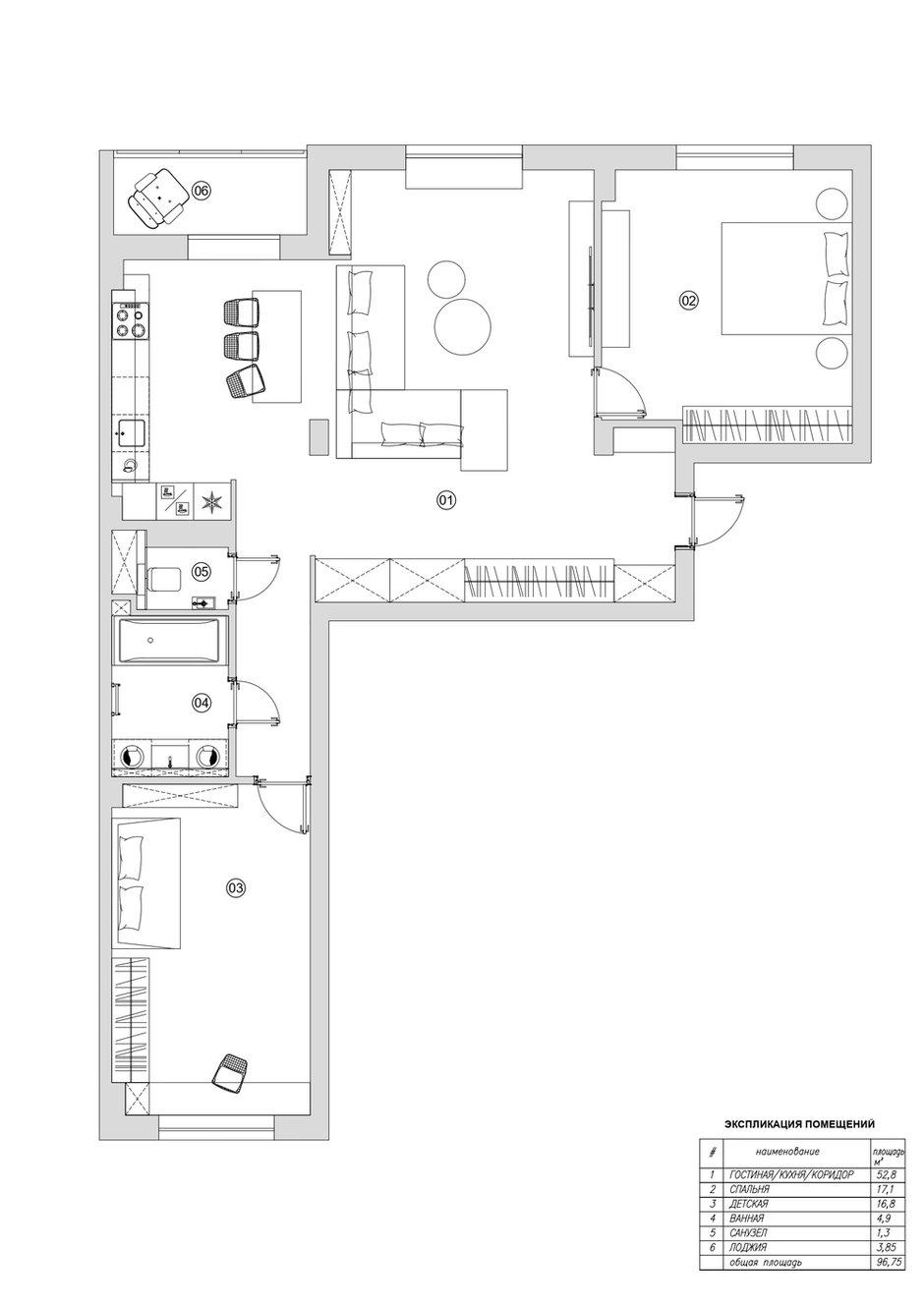 Фотография: Планировки в стиле , Квартира, Минимализм, Проект недели, Минск, 3 комнаты, Более 90 метров, Татьяна Манцевич – фото на INMYROOM