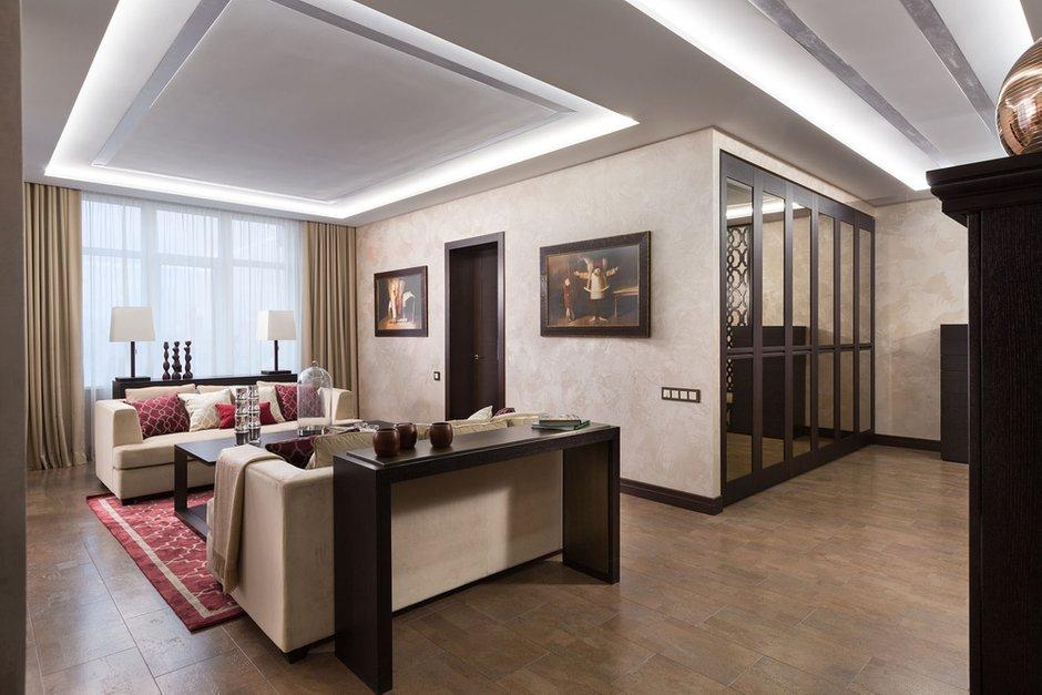 Фотография: Гостиная в стиле Классический, Современный, Эклектика, Квартира, Проект недели – фото на INMYROOM