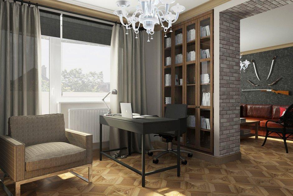 Фотография: Офис в стиле Лофт, Эклектика, Квартира, Дома и квартиры, IKEA, Проект недели – фото на INMYROOM