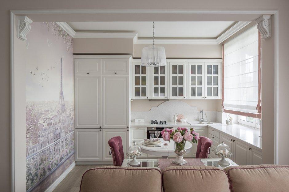 Фотография: Кухня и столовая в стиле Классический, Квартира, Проект недели, Москва, Светлана Юркова, Сталинка, 2 комнаты, 40-60 метров – фото на INMYROOM