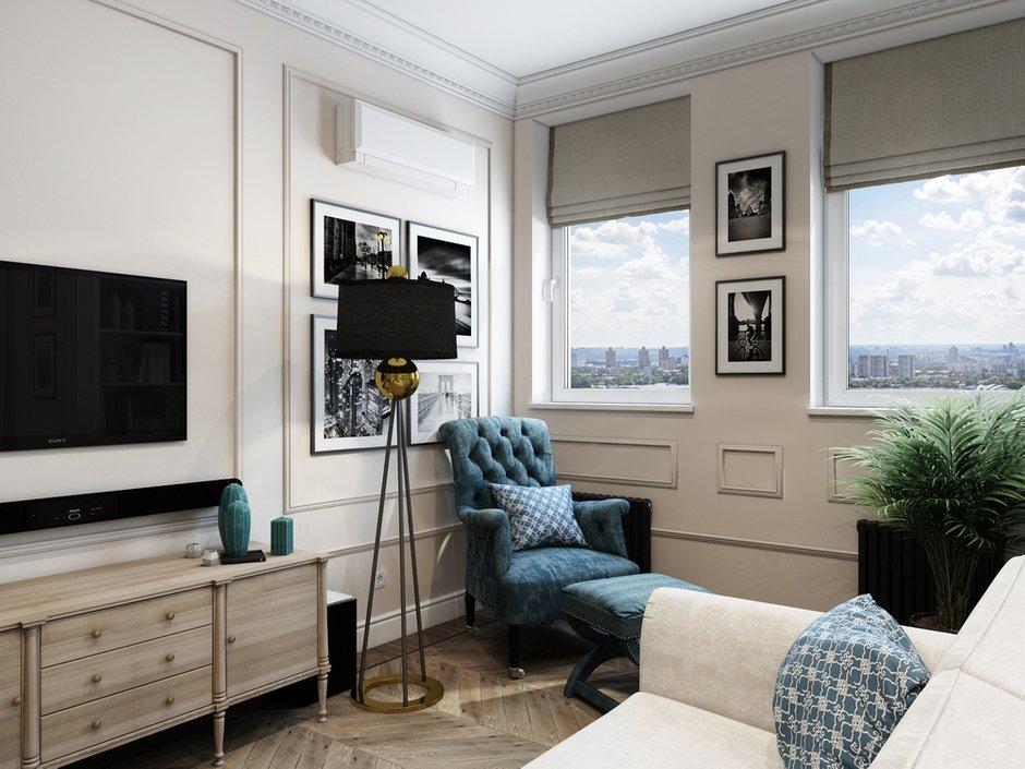 Фотография: Гостиная в стиле Классический, Проект недели, Москва, Светлана Старцева, 3 комнаты, Более 90 метров – фото на INMYROOM