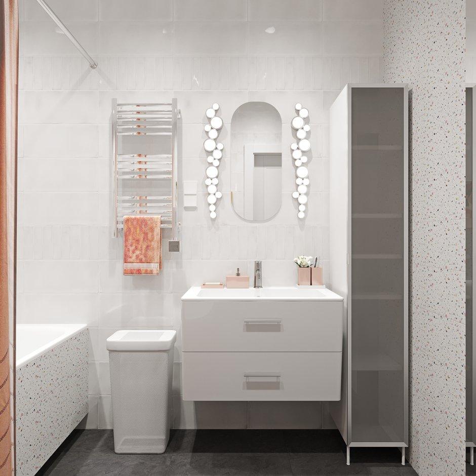 Фотография: Ванная в стиле Скандинавский, Квартира, Проект недели, Москва, 2 комнаты, 60-90 метров, Эльжбета Чегарова – фото на INMYROOM