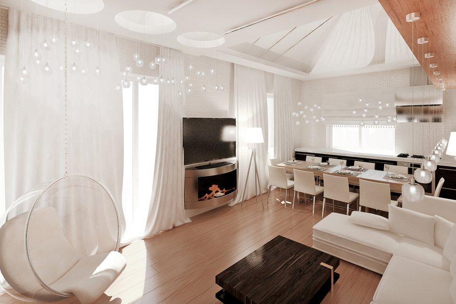 Фотография: Гостиная в стиле Современный, Квартира, Дома и квартиры, Проект недели, Мансарда – фото на INMYROOM