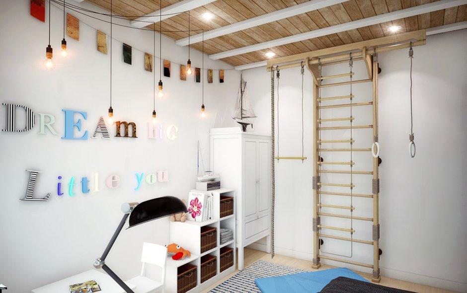 Фотография: Детская в стиле Лофт, Эклектика, Квартира, Проект недели, ИКЕА, Circle Line – фото на INMYROOM