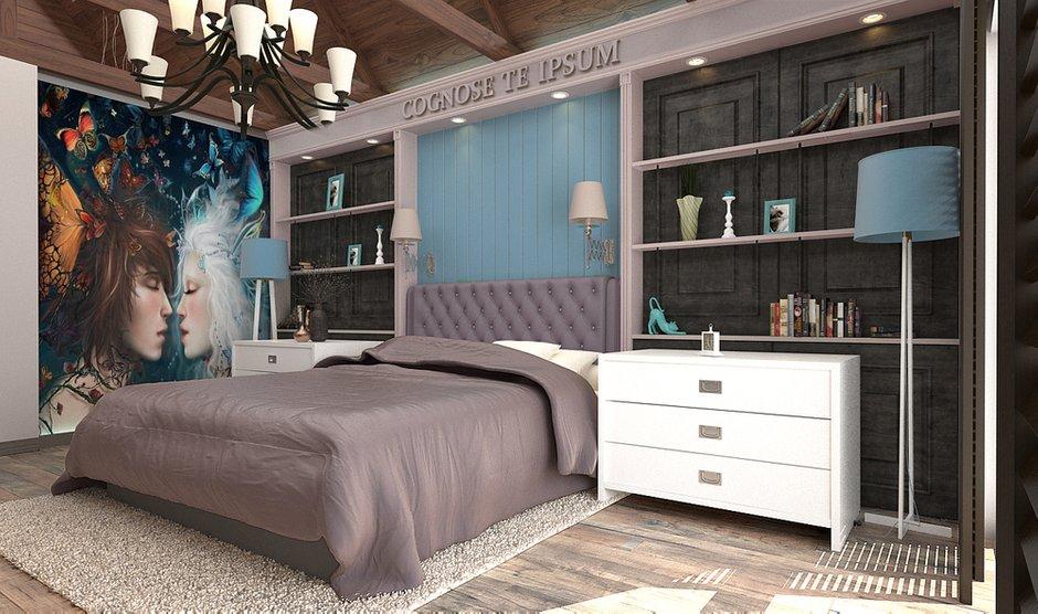 Фотография: Спальня в стиле Эклектика, Дом, Дома и квартиры, Шале – фото на INMYROOM