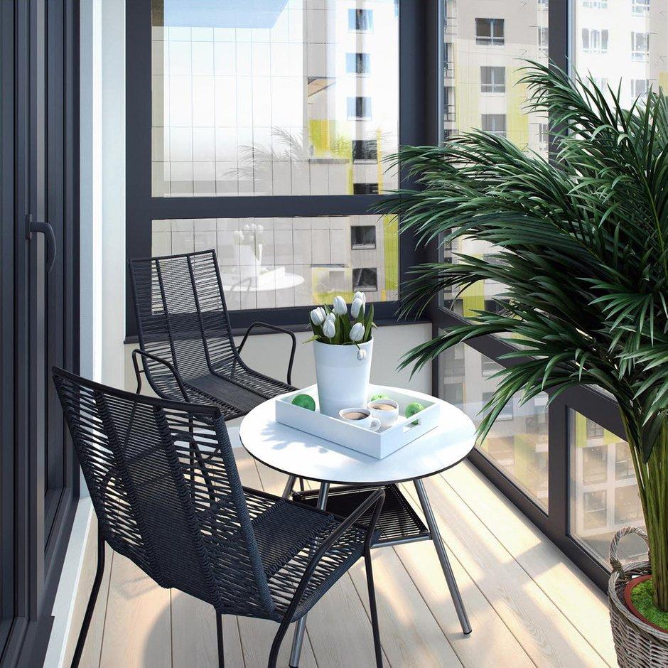 Фотография: Балкон в стиле Современный, Квартира, Проект недели, Москва, Светлана Старцева, 3 комнаты, Более 90 метров – фото на INMYROOM