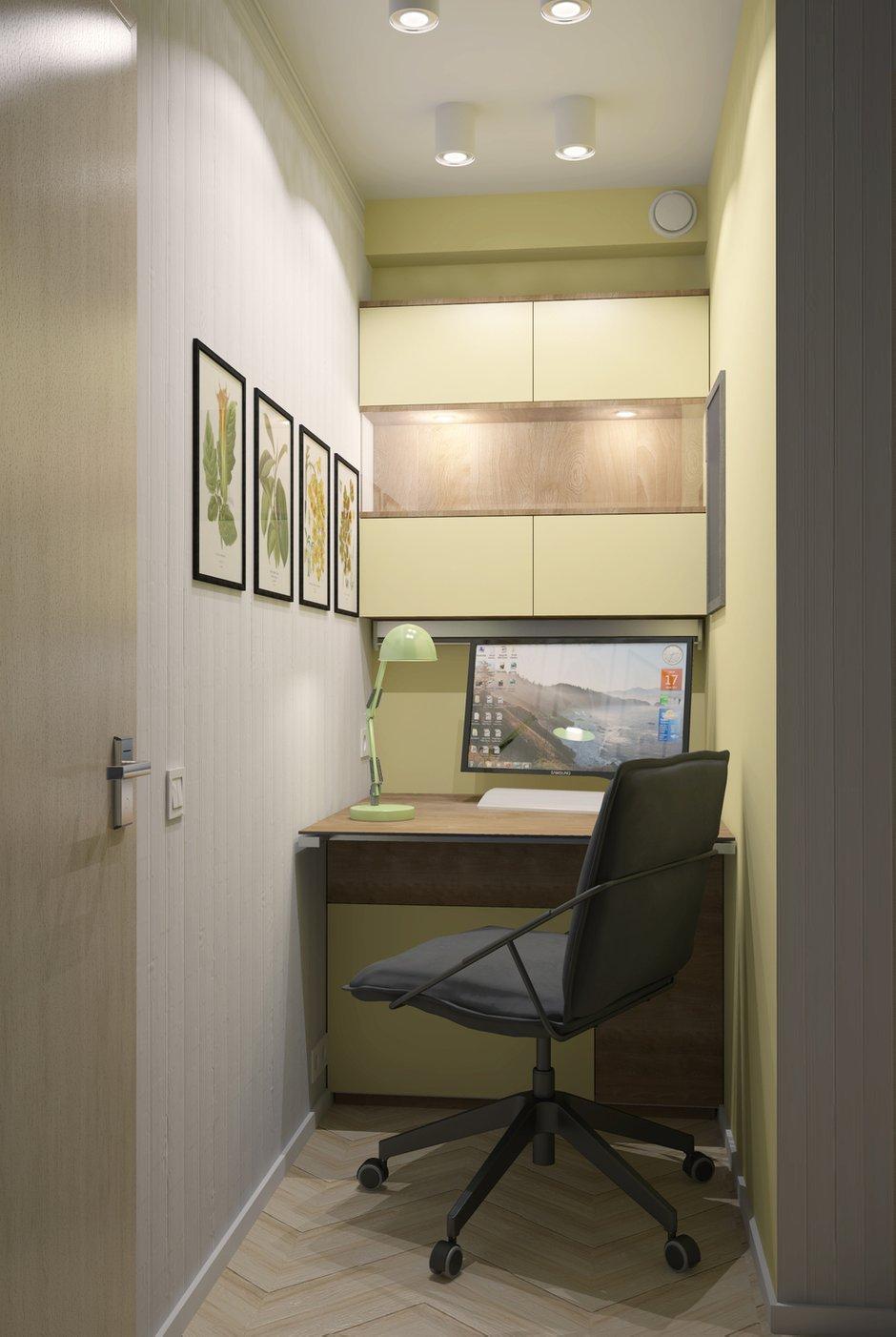 Фотография: Офис в стиле Современный, Малогабаритная квартира, Квартира, Дома и квартиры, Перепланировка – фото на INMYROOM