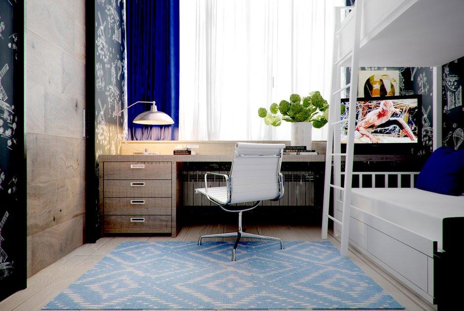 Фотография: Спальня в стиле Лофт, Современный, Малогабаритная квартира, Квартира, Дома и квартиры – фото на INMYROOM