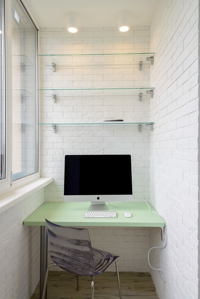 Фотография: Балкон, Терраса в стиле Современный, Малогабаритная квартира, Квартира, Дома и квартиры, Минимализм, Переделка – фото на INMYROOM