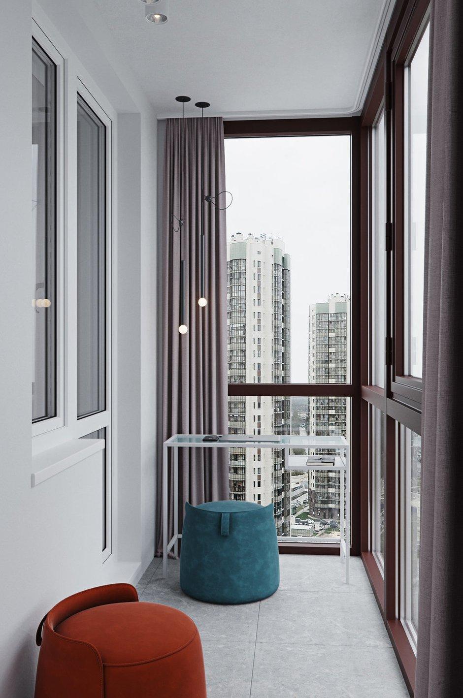 Фотография: Балкон в стиле Современный, Малогабаритная квартира, Квартира, Проект недели, Санкт-Петербург, Алена Тимонина, Андрей Тимонин, Монолитный дом, 1 комната, до 40 метров – фото на INMYROOM