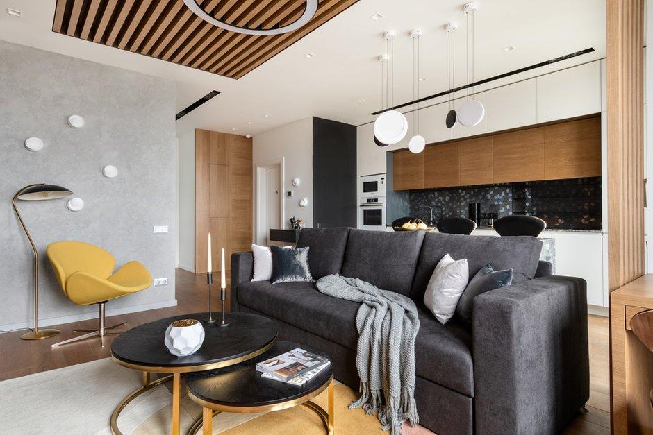 Фотография: Гостиная в стиле Современный, Квартира, Проект недели, 2 комнаты, 40-60 метров, Александра Гартке – фото на INMYROOM