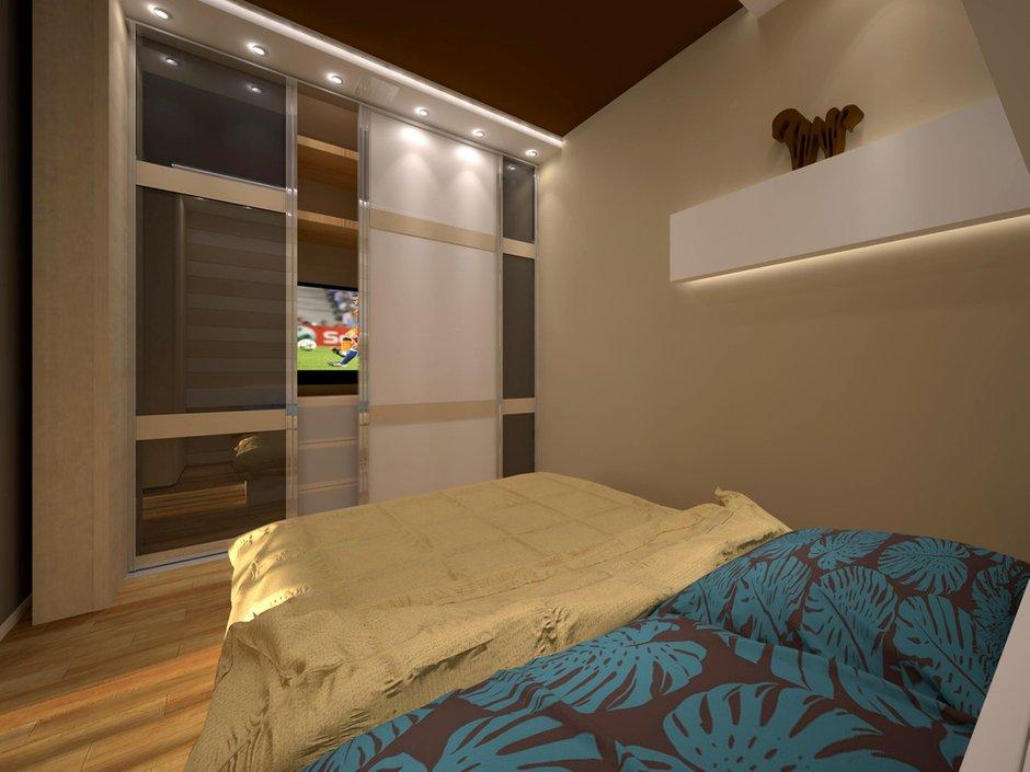Фотография: Спальня в стиле Современный, Квартира, Дома и квартиры, Перепланировка, Москва, Стена, Перегородки – фото на INMYROOM