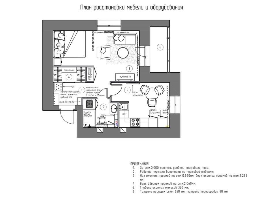 Фотография: Планировки в стиле , Современный, Малогабаритная квартира, Квартира, Проект недели, «Атмосфера», Монолитный дом, 1 комната, до 40 метров, Алена Еременко, Ярославль, ПРЕМИЯ INMYROOM – фото на INMYROOM