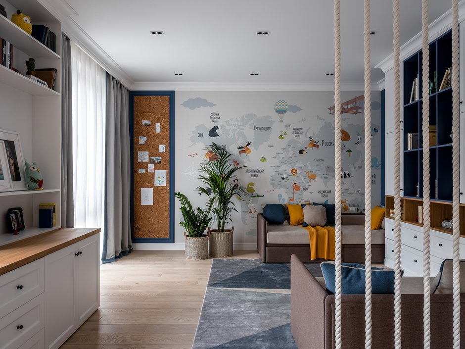 Фотография: Детская в стиле Современный, Квартира, Проект недели, Одинцово, Мария Рублева, 3 комнаты, Более 90 метров, #эксклюзивныепроекты – фото на INMYROOM