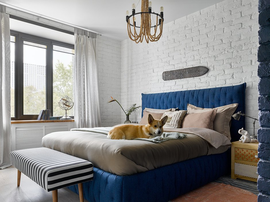 Фотография: Спальня в стиле Эклектика, Квартира, Проект недели, Москва, Сталинка, 3 комнаты, 60-90 метров, Дарья Мисюра – фото на INMYROOM