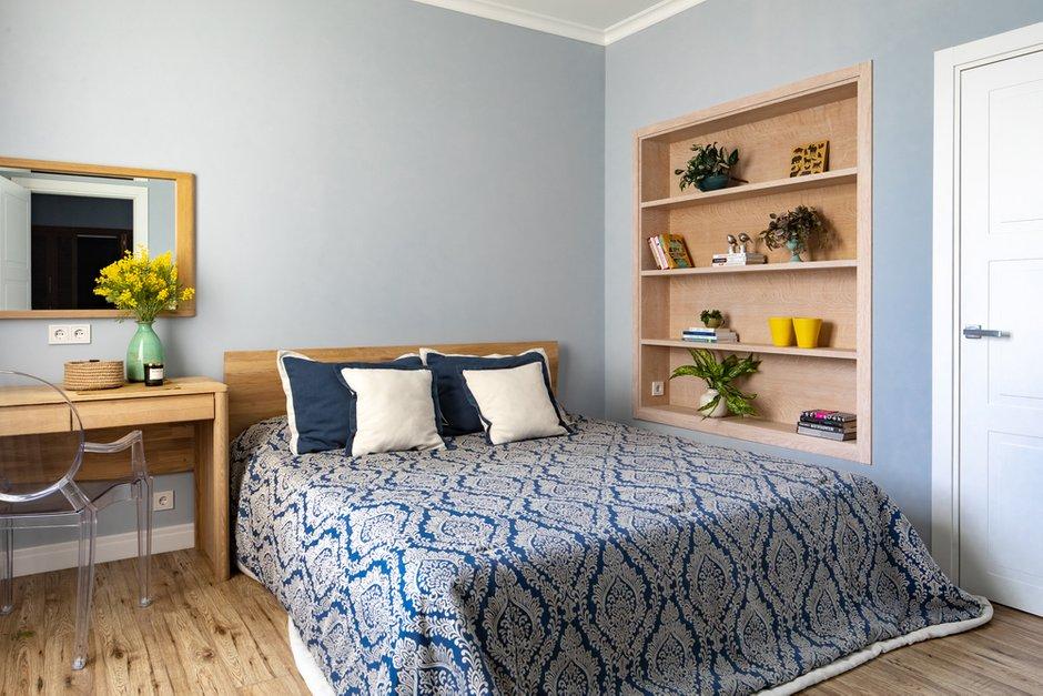 Фотография: Спальня в стиле Современный, Квартира, Проект недели, Москва, Монолитный дом, 4 и больше, Более 90 метров, Евгения Козюкова – фото на INMYROOM