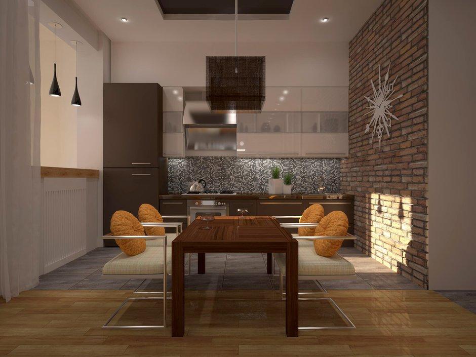 Фотография: Кухня и столовая в стиле Лофт, Квартира, Дома и квартиры, Перепланировка, Москва, Стена, Перегородки – фото на InMyRoom.ru